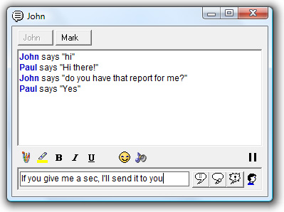 OfficeIRC Messenger Message Box